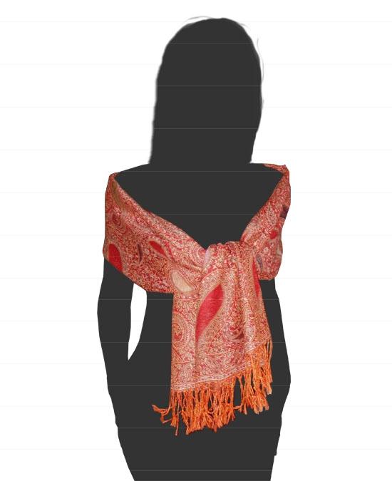 ArcaSilk - Kašmírový šál oranžový b42c5711a7