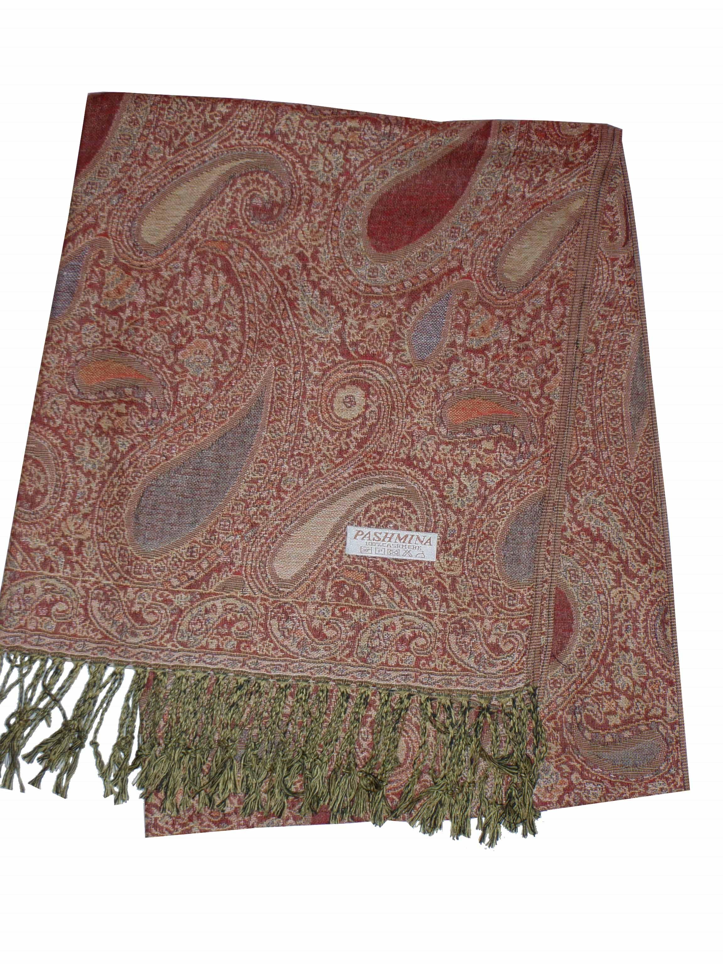 Kašmírový šál Luxus červený 3. Kašmírový šál oranžový 7b900143af